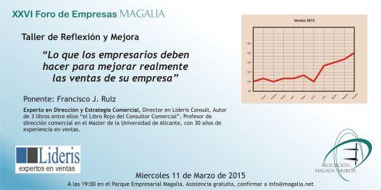 Taller de ventas en Magalia